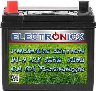Electronicx U1 (9) 30AH 300A (EN) Green Power batterij voor grasmaaiers, tuingereedschap, startaccu, onderhoudsvrij, calci...