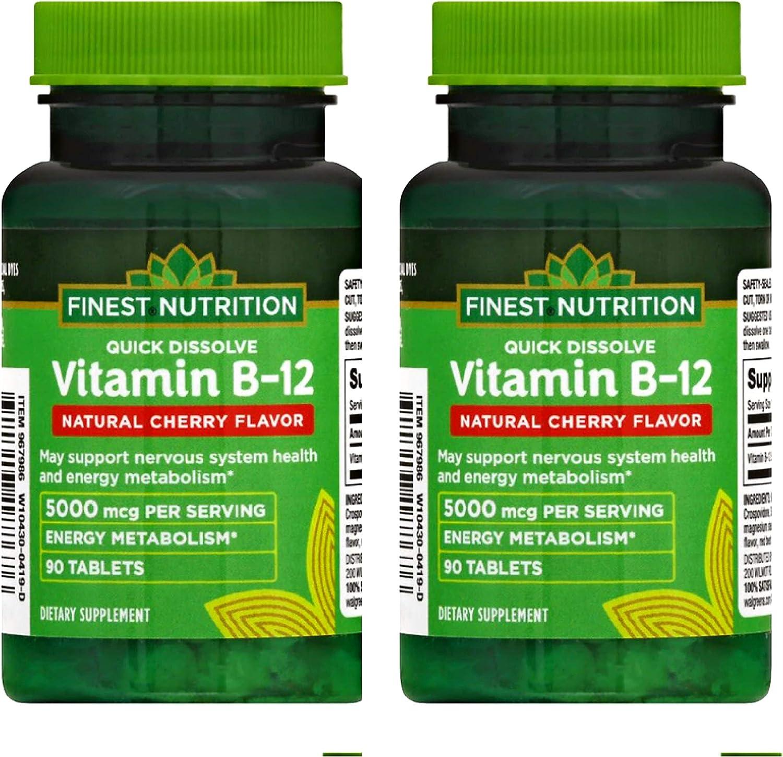 2 Spasm price Packs - Finest Nutrition Vitamin Dissolve Quick SALENEW very popular B12 Natural