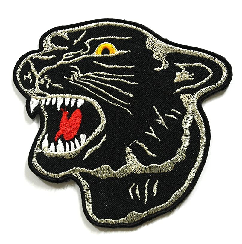 Tiger Patch - Applique Embroidered patches - Iron on Patches - Backpack Patches - Size 10.5 x 10 Cm.