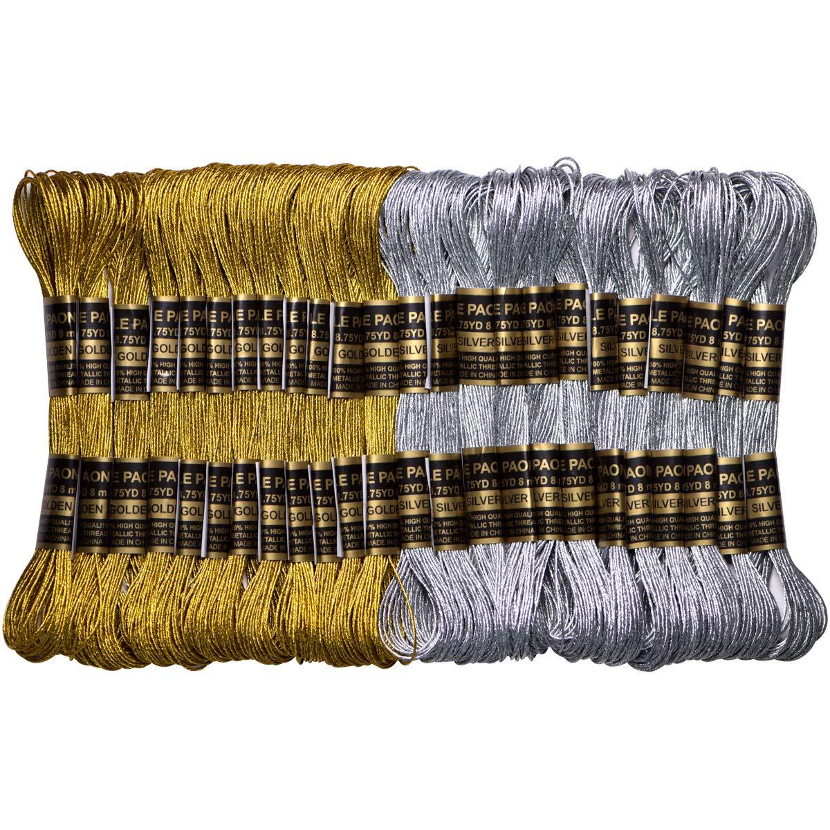 ThreadNanny Silver Metallic Machine Embroidery Threads 10000 yards