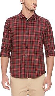 BASICS Slim Fit Tibetan Red Checks Shirt