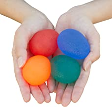 RMS 4-Pack Hand Exercise Balls - Physical & Occupational Therapy Kit for Strengthening Grip & Reducing Stiffness - Arthritis Pain Relief Exerciser for Rehabilitation, Fidget, Stress Relief