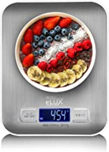 Project eLUX Digital Kitchen Food Weighing Scale, Stainless Steel Back-lit LCD-Display Slim Design AAA Batteries Included,...