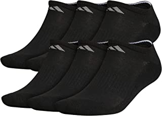 adidas mens Athletic Cushioned No Show Socks (6-pair)
