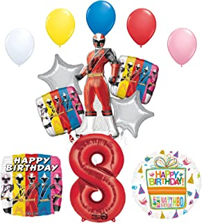 Mayflower Products The Ultimate Power Rangers Ninja Steel 8th Birthday Party Supplies and Balloon Decorations