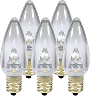 Holiday Lighting Outlet Smooth C9 Christmas Lights   Sun Warm White LED Light Bulbs Holiday Decoration   Warm Christmas Decor for Indoor & Outdoor Use   3 SMD LEDs in Each Light Bulb   Set of 25