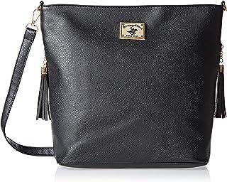 Beverly Hills Polo Club Bh2880 Crossbody Bag For Women - Leather, Black (BH2880)