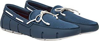 Swims Mens Braided Lace Loafer, Slate/White, Size 10