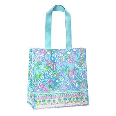 Lilly Pulitzer Market Shopper (Aqua La Vista) Tote Handbags