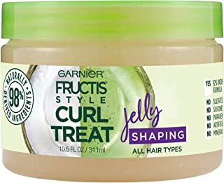 Garnier Fructis Style Curl Treat Shaping Jelly with Coconut Oil for Curly Hair, 10.5 Ounce Jar