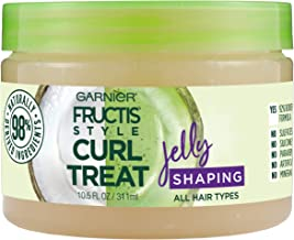 Garnier Fructis Style Curl Treat Shaping Jelly with Coconut Oil for Curly Hair, 10.5 Fl Oz
