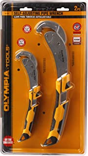 Olympia Tools 01-181 Power Grip Pipe Wrench Set, 2-Piece