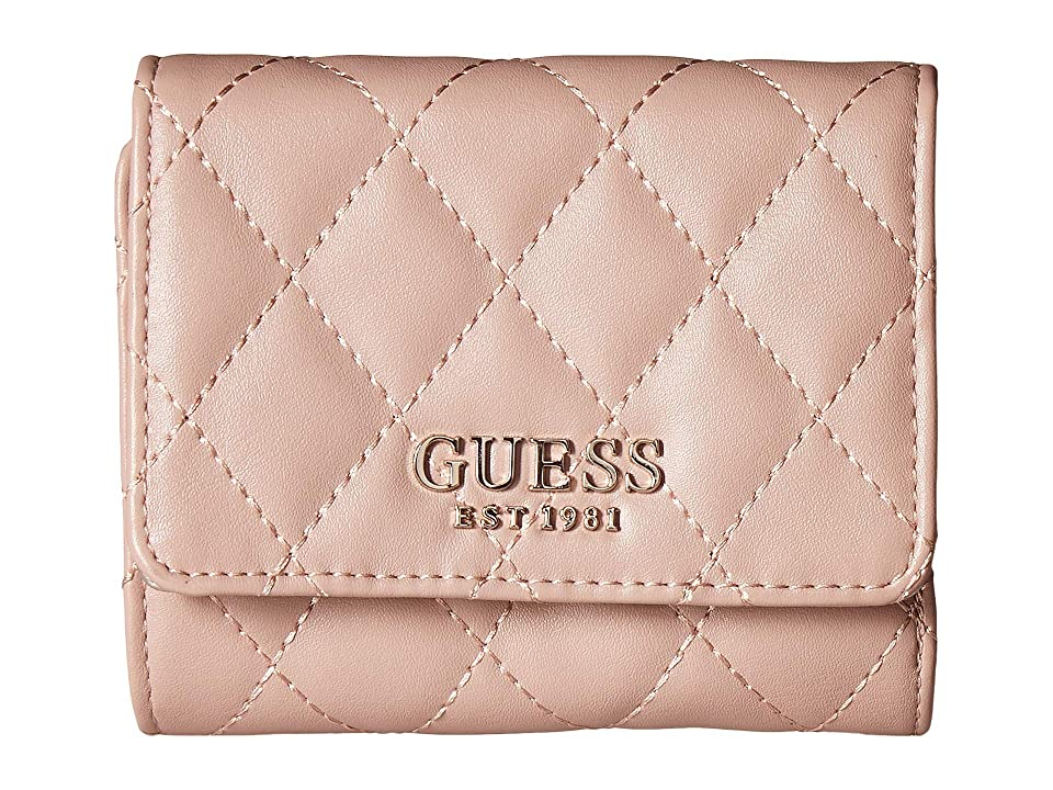 GUESS Sweet Candy SLG Small Trifold (Cameo) Wallet Handbags, Pink
