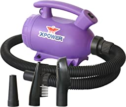 XPOWER B-55 - 2 HP Portable (Do it Yourself) Home Dog Force Dryer for Home Grooming, Backup Dryer, Travel Dryer| Purple