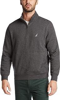 Nautica Men's Classic Fit Quarter-Zip Fleece Pullover Shirt