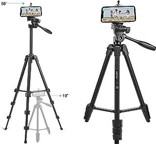 125cm 50-Inch Aluminum Portable Camera Tripod Stand Holder Adjustable Rotatable Retractable Aluminum Tripods Smartphones M...