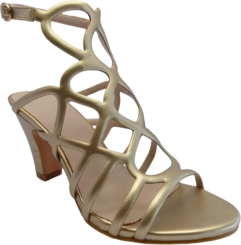 Women's Round Now free shipping Head High 2021 model Heel Sandals Fashion Roman
