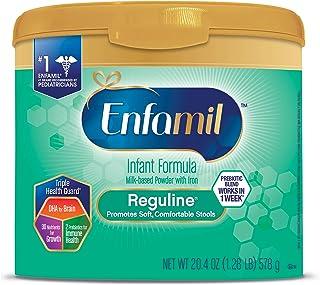 美贊臣Enfamil Reguline嬰兒配方奶粉 20.4盎司粉末奶粉 可重復使用罐裝