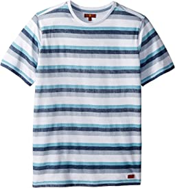 7 For All Mankind Kids Crew Neck Tee (Big Kids)