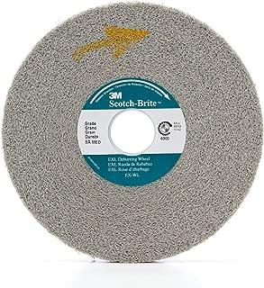 Pack of 2 EXL Deburring Wheel 3600 rpm 10 Diameter x 1 Width 9S Fine Grit Scotch-Brite TM 5 Arbor Silicon Carbide