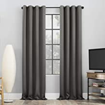 Sun Zero Nordic 2-Pack Theater Grade Extreme 100% Blackout Grommet Curtain Panel Pair, 52