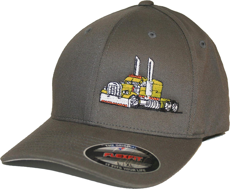 Just Ride Trucker Hat Big Rig Tractor Semi Flexfit Cap Truck Driver
