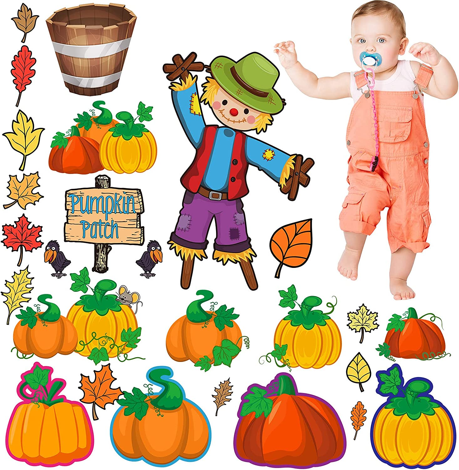 28 Animer and price revision Pieces Pumpkin Direct sale of manufacturer Patch Bulletin Decor Board Thanksgiving Autumn