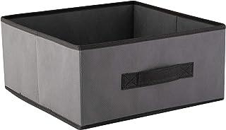 axentia 132717 Boîte de Rangement, Gris/Anthracite, env. 28 x 13 x 28 cm