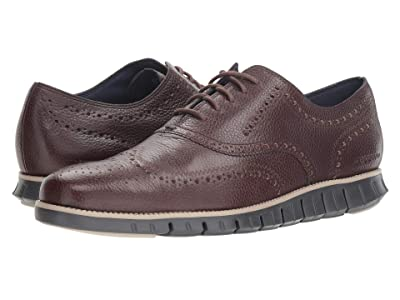 Cole Haan Zerogrand Wingtip Oxford Leather (Black Walnut/Dove/Magnet) Men