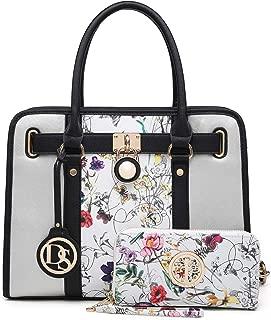 Purses and Handbags for Women Satchel Ladies Tote Purses Shoulder Bags with Wallet 2pcs Set