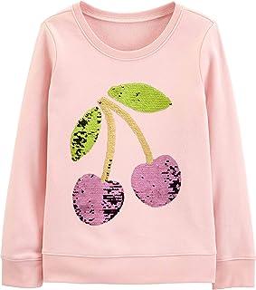 Girls' Sequin Crew Neck Sweatshirt