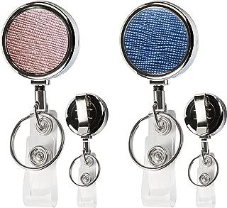 Teskyer Retractable Badge Holder Reel, Super Solid Full Metal id Card Badge Reel Clip/Retractable Keychain, Retractable 30