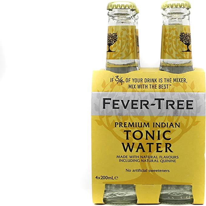 Fever tree Premium Indian Tonic Water Bottles, 200 ml (Pack Of 24)