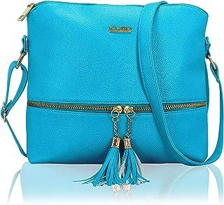Tassel PU Leather Cross Body Side Sling Handbag Purse For Women/Girls