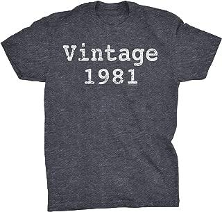38th Birthday Gift T-Shirt - Vintage 1981 Distressed Print - Type