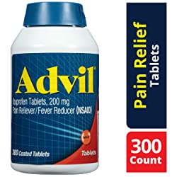 Advil (300 Count) Pain Reliever / Fever Reducer Coated Tablet, 200mg Ibuprofen, Temporary Pain Relie