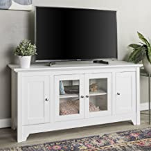 Walker Edison Furniture Company Wood Universal Stand with Storage Cabinets for TV's..