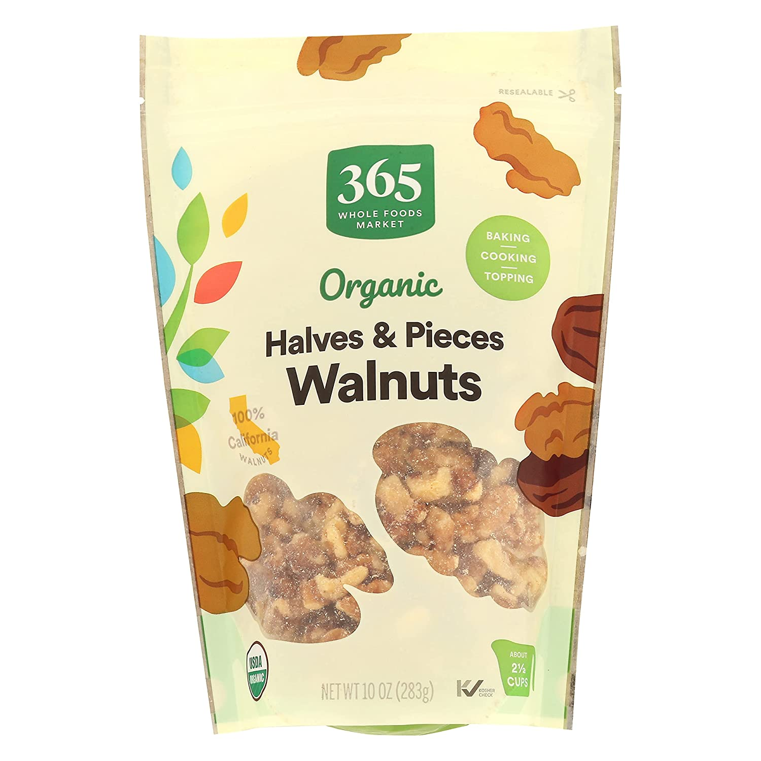 365 by Cheap super special price WFM Walnuts Halves Ounce Pieces 10 Clearance SALE Limited time Organic
