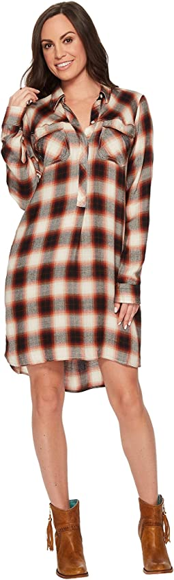 Stetson - 1397 Baroque Ombre Plaid Shirtdress