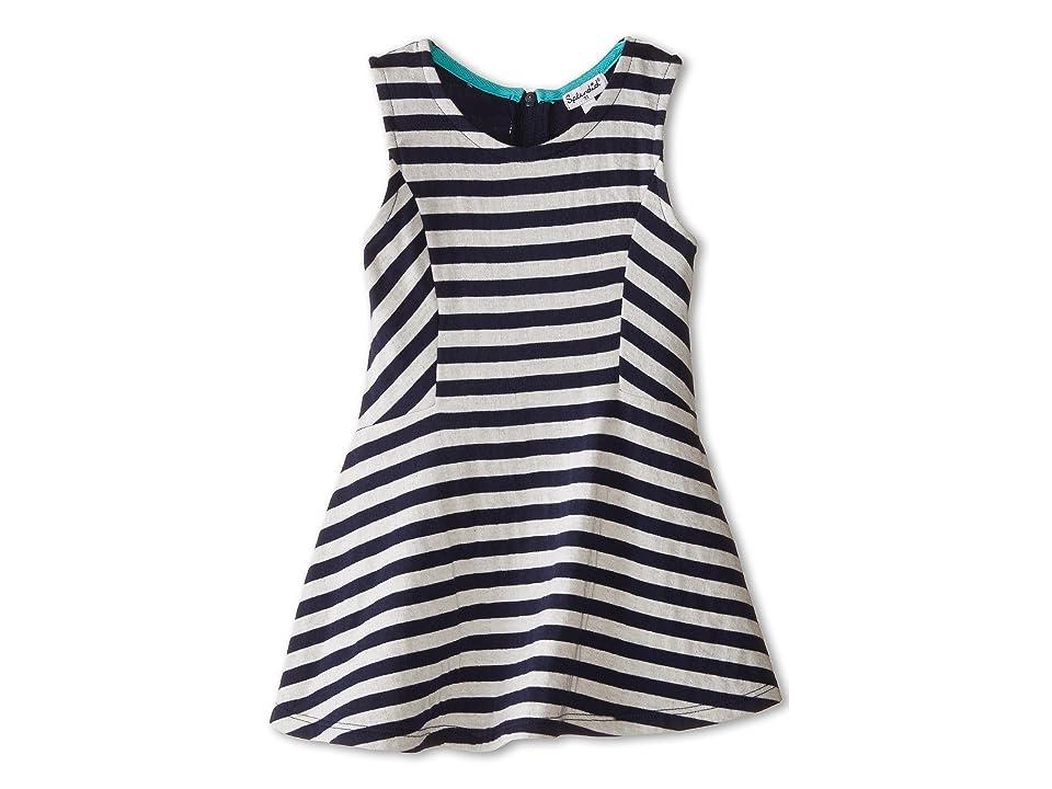 Splendid Littles Fashion Stripe Dress (Toddler) (Navy) Girl