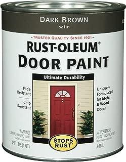Rust-Oleum 238313 Door Paint, Dark Brown, 1-Quart