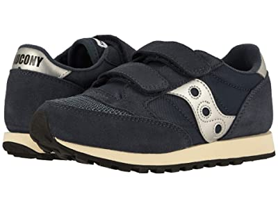 Saucony Kids Jazz Original Vintage Hook-and-Loop (Little Kid) (Navy) Boy