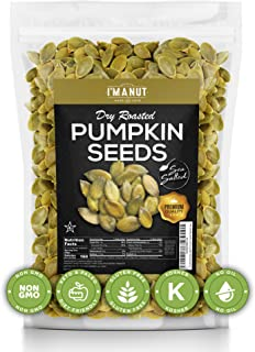 Dry Roasted Pumpkin Seeds Sea Salted, 2 lbs (Papitas) No Oils | No PPO | Non GMO | Vegan and Keto Friendly ...