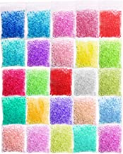 Korlon 25 Pack Slime Fishbowl Beads, 10.5 Oz Crunchy Slime Beads Slushie Beads for Homemade Slime, DIY Craft, Doll Filling, Plastic Beads for Crafts (25 Color)