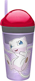 Zak! Designs Pokemon Zak!Snak Snack & Drink Container Featuring Mew 4 oz. Snack and 10 oz. Drink in One Easy to Open Container, BPA Free and Break Resistant Plastic