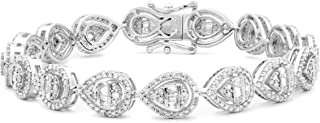 Femme Luxe Vintage Diamond Bracelet for Women (2.75 Carats, G-H Color, I2-I3 Clarity), 14K White Gold, Giftable Jewelry