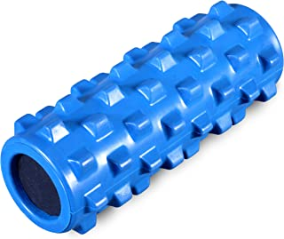 MDBuddy Solid Foam Roller for Physical Therapy, Myofascial Release & Exercise for Muscles with Soft Deep-Tissue Massage - Best for Stretching, Tension Release, Cramp Relief, Pilates & Yoga
