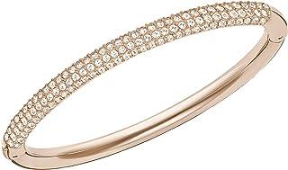 Swarovski Women's White Rose-gold tone plated Stone Bangle 5032850