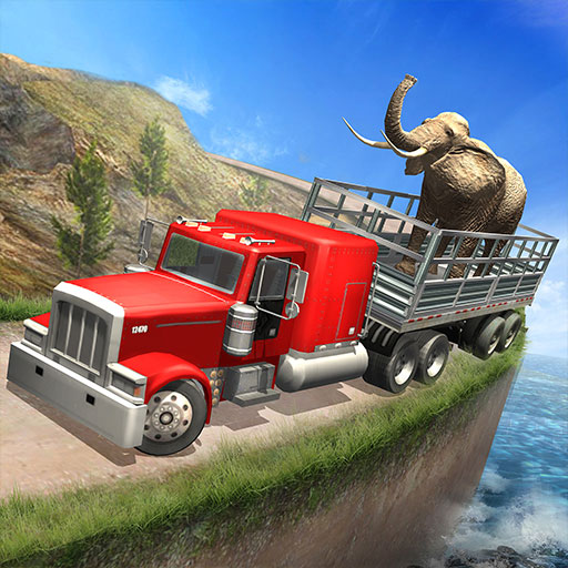 Zoo Animals Transporter Truck Driving Game: Parking Cargo Transporter Offroad Racing Adventure Free 2019