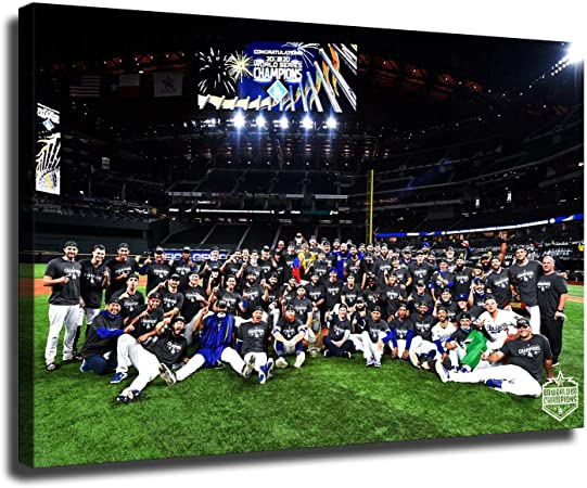 12x18inch,Canvas roll Los Angeles Dodgers fans decorate the 2020 World Series Championship canvas wall art large size poster